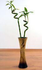 Asiatische Designervase aus Holz, Tischvase, Deko, Blumenvase, Handarbeit