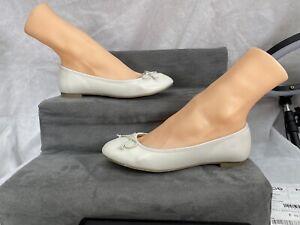 Principles Flat Pumps Shoes  White colour Size U.K 3 Euro 36 Faux Leather