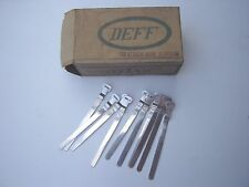 DEFF VINTAGE ALLOY CABLE CLAMPS - NOS