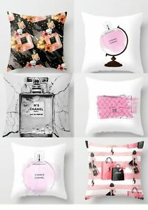 Fashion Perfume Bottle Sofa Cushion Pillow Case Home Office
