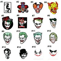 Joker Clown Face Bad Evil Retro Rock Punk Emblem DIY Clothing Jean Iron on Patch