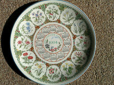 Wedgwood Calendar Year Plate - 1994 - COTTAGE GARDEN (boxed)