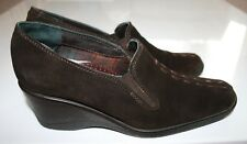 "RUSSELL & BROMLEY AquaTalia Brown Suede Leather EU37.5/UK4.5 Wedge 2.5"" Heels"