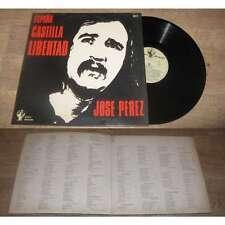 JOSE PEREZ - Espana Castilla Libertad Rare French LP Alvares Spanish Folk 76'