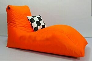 Orange Lounger Bean Bag Sofa Bag Chair Bag Cover only Leather & Sued size XXXL