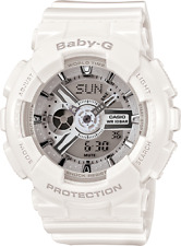 Casio G-Shock BA-110-7A3 White Baby-G Digital Ladies Watch with Resin Band New