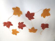 12 x Sisal Herbstblatt Girlande Herbstblätter Herbst Deko Tischdeko Herbstdeko