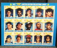 1987 COOKIE-CRISP 11 X 14  LIMITED EDITION COLLECTORS 15 CARD SET UNCUT SHEET