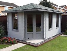 More details for log cabin corner cabin 3mx4.5m/28mm completes with floor and shingle tiles