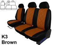 FORD TRANSIT CUSTOM VAN 2017 2018 2019 ECO LEATHER EMBOSSED TAILORED SEAT COVERS