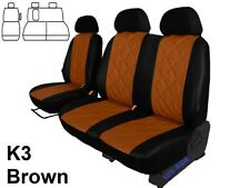 FORD TRANSIT CUSTOM 2017-18-2019 ARTIFICIAL LEATHER TAILORED SEAT COVERS