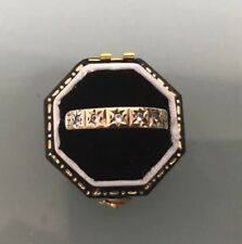 Women's 9ct Gold Vintage Eternity Ring Size O Weight 1.7g Stamped
