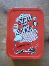 SEW AND SAVE Collector tobacco Tin Retro Storage container New