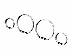 For BMW E46 M3 ZHP Cluster Dashboard Dial Gauge Rings CHROME
