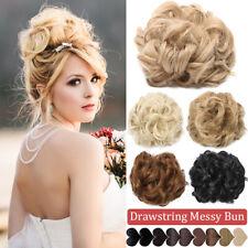 100% Real Natural Clip in Messy Hair Bun Extension Chignon As Human Hair Piece