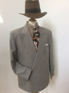 Man's Vintage 1940's Style Double Breasted Suit. 42 Chest 36 Waist.