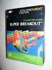 Atari 400/800 Super Breakout In Box Factory sealed, RARE HTF clean
