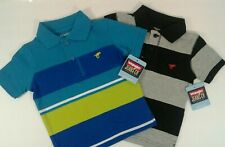 Wrangler Jeans Polo Shirt Toddler Size 3T Striped Set of 2 Button Collar NWT