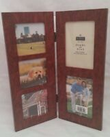 "New ""Burnes of Boston"" 5 Opening Brown Contemporary Collage Frame"