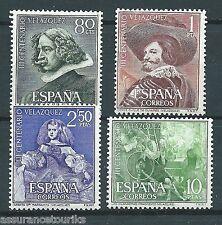 ESPAGNE - VELASQUEZ - 1961 YT 1017 à 1020 - TIMBRES NEUFS** LUXE