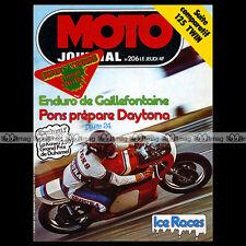 MOTO JOURNAL N°206 YAMAHA RDX HONDA CB 125 JX ICE RACE COURSE SUR GLACE GRENOBLE