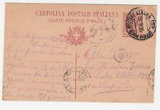 CARTOLINA POSTALE 1916 REGNO UFFICIO POSTA MILITARE INTERO PER NAPOLI A/7626
