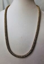 Fashion Melinda Maria Gold and Silver Tone Mesh Heavy Chain Necklace