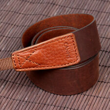 ❤CANPIS Crazy Horse Soft Leather Camera Neck Shoulder Strap for Canon Nikon DSLR