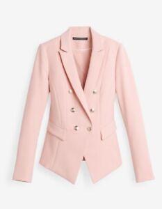 WHITE HOUSE BLACK MARKET Pink Ballerine Trophy Blazer Jacket Fits 6-8