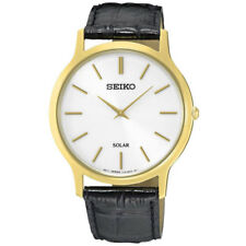 NEW Seiko Gents Solar Leather Strap Watch   SUP872P1
