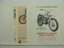 Vintage 1967 American Eagle Motorcycle Zundapp Literature Brochures L10132