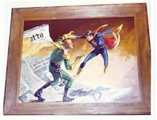 LOT 3: Photo of CAPTAIN NAZI VS. CAPT. MARVEL JR painting from 1971 RBCC office.