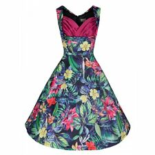 "Brand new LindyBop vintage""Ophelia""Tropical Pink Rainforest Swing Dress UK8"