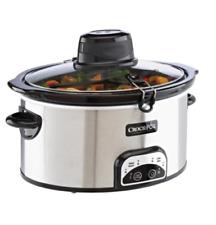 Crock-Pot 6.5 Qt Silver Oval Programmable Digital Slow Cooker - New / Sealed