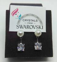 Orecchini argento 925 % cristalli Swarovski  Perle punto luce donna ragazza
