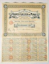 Espagne - San Sebastian - Belle Entête Rare Franco Gallega de Minas  03/02/1913