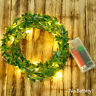 10M Christmas Garland Party LED Leaf String Lights Copper Outdoor Fairy Decor