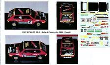 Decal - Fiat  RITMO Gr.2 - 4 ROMBI  - Rally Piancavallo   1980