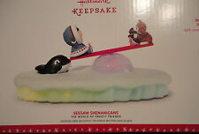 2016 Hallmark Frosty Friends SEESAW SHENANIGANS Table Decoration MAGIC light NEW