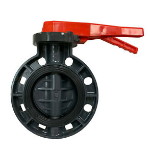 New Sch 80 PVC 6 Inch Butterfly Valve Locking Handle Butterfly Valve New PVC