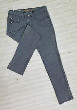 HIGHWAY SKINNY BLACK & WHITE STRIPED Sz 7 LOW STRETCH JEANS ACTL 28X30 EUC H11