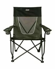 Coleman Ultimate Comfort Folding Sling Chair Gray 400lb Capacity 2 Cup Holders