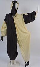 Antique 1920'S 2 Tone Halloween Costume / Circus Clown Set W Jester Style Hat