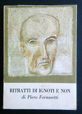 Piero Fornasetti ritratti di Ignoti e non desconocido retratos libro 1974 Muy Raro