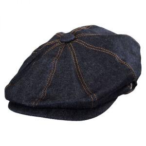 Jaxon Hats Denim Cotton Newsboy Cap