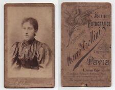 Fotografia CDV Carte da Visit M.TOLLINI - RARA, DONNA con gioielli e stella