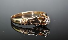 Art Nouveau 14K Yellow Gold VVS1 .15ct Old European Cut Diamond Engagement Ring