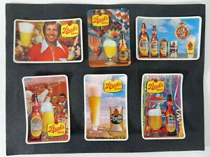 6 Vintage Strohs Bohemian Beer Hologram 3D Mini Calendar Cards 1969 1971-1974 83