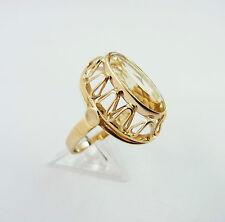 ovaler Ring in Gold 585 mit Zitrin Goldring RW 53 (D70)