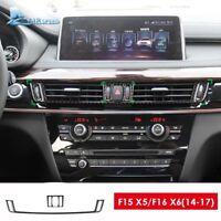 For BMW F15 X5 F16 X6 2014-17 Carbon Fiber Interior Console Air Vent Cover Trim